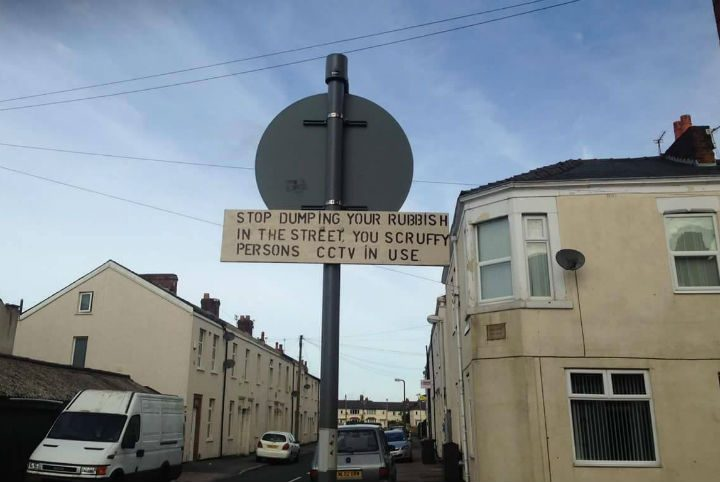 This sign has appeared in the St Matthews area Pic: Andy Speariett