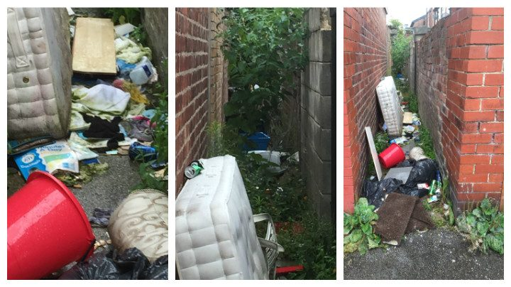 These items were dumped off Maitland Street Pic: Fixmystreet