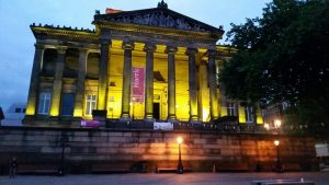The Harris lit gold for Childhood Cancer Awareness Month