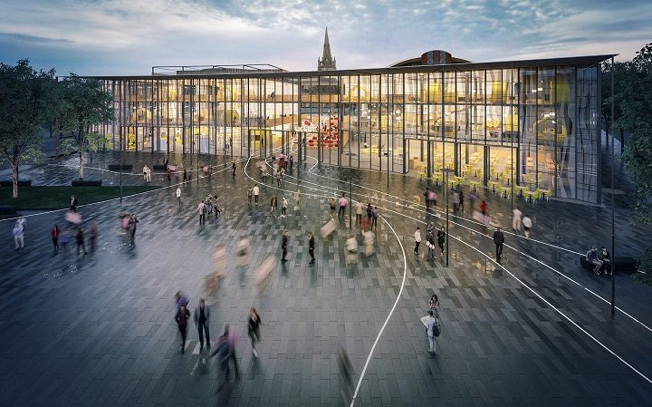 This is what the new public square will look like on what was the Adelphi roundabout