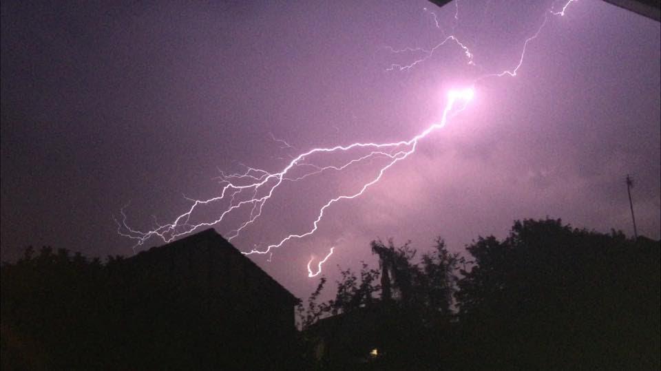 Lightning over Preston. Credit: Helen Tattler