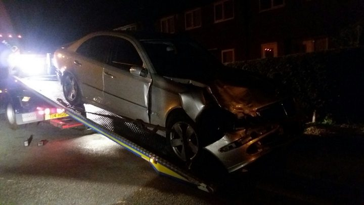 The car was found abandoned off Watling Street Road Pic: LancsRoadPolice