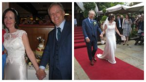 Nick Park and his wife Mags after the ceremony Pic: Brenda Dell