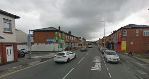 New Hall Lane close to the junction of Salisbury Street where the incident happened Pic: Google