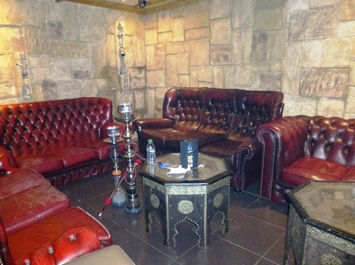 Inside the shisha lounge where inspectors found the offence taking place