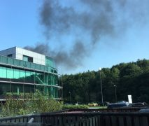 Smoke can be seen near Lostock Hall Pic: Aimee Horwich