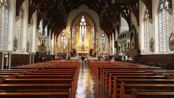 Exploring inside St Walburge's Pic: Benny Mc'Nally