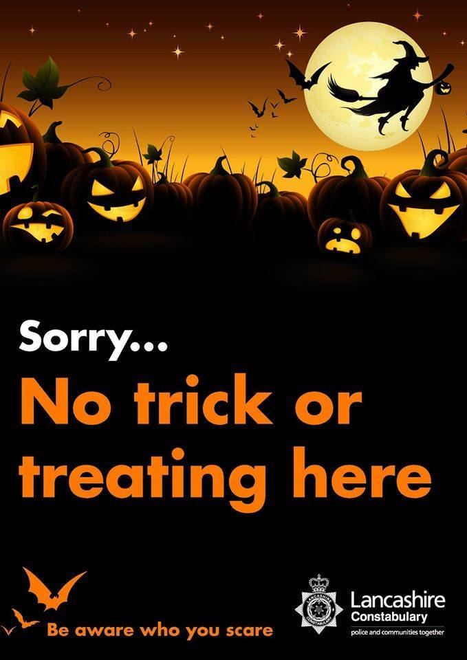 Police trick or treat poster