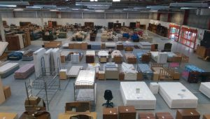 Looking down on the Emmaus megastore