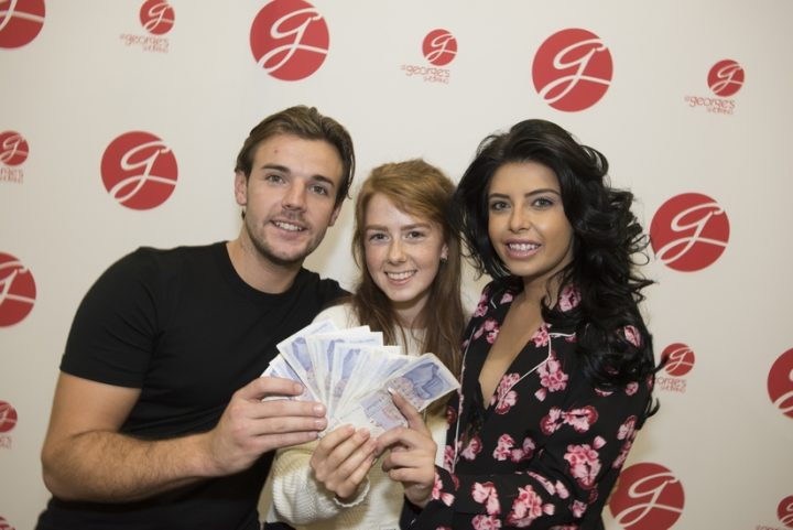 Katie from Lostock Hall with her spending money on the night
