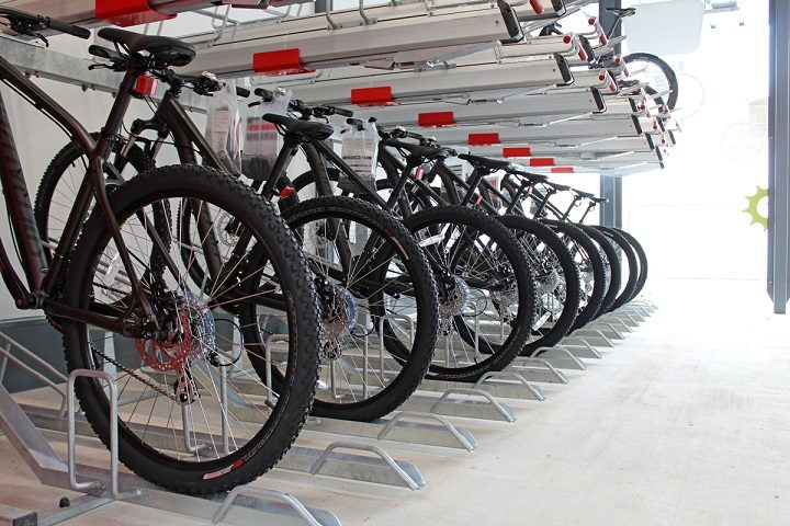 Inside the new bike hub