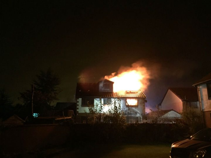 Another view of the house on fire Pic: Gavin Seed