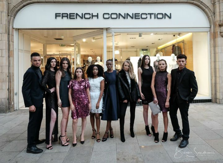 French Connection outfits were modelled in the city