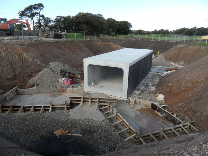 Helms Farm Underpass being put into position