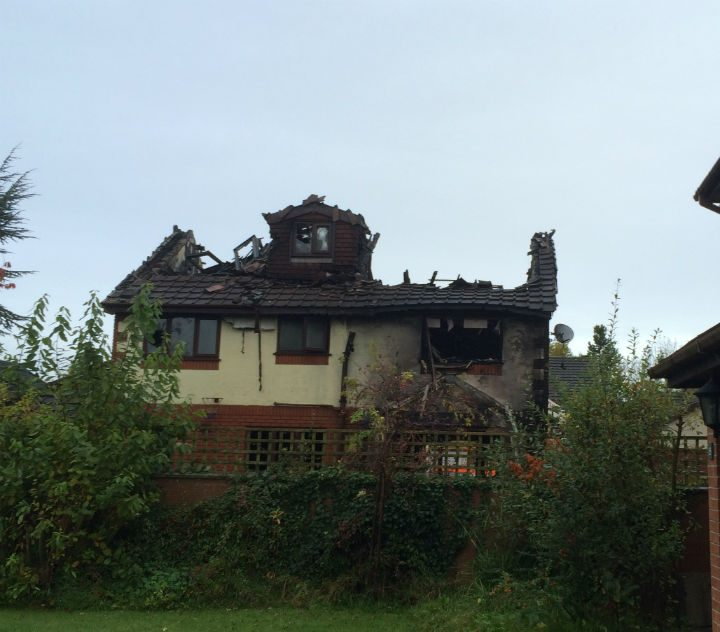 What remains of the house Pic: Gavin Seed