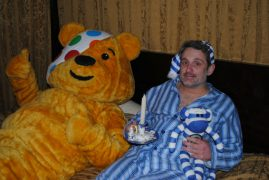 Graham will hopefully not be doing the whole thing in his pyjamas!