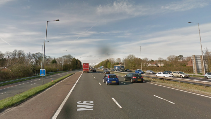 M6 northbound at Junction 28 Pic: Google