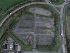 Aerial view of the former park and ride site Pic: Google