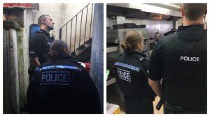 Police visiting premises in Preston during immigration checks