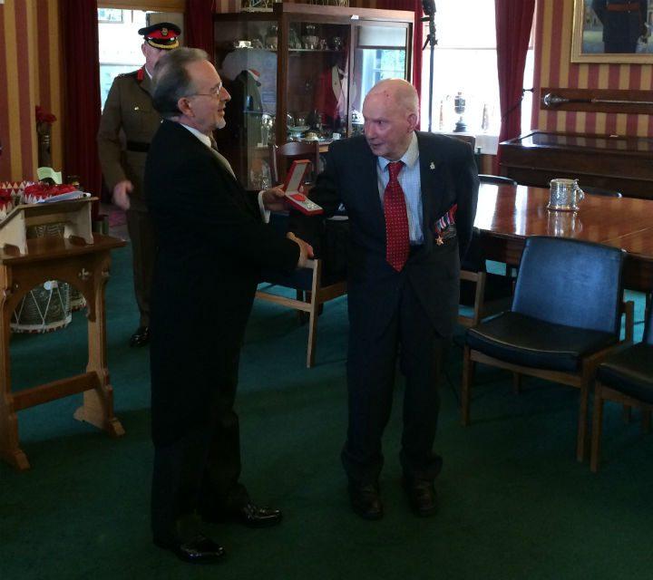 Robert receives the honour