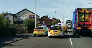 Police close off Tag Lane after crash Pic: Marcin Majkowski