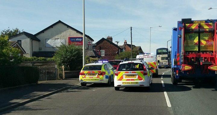 Police close off Tag Lane after crash Pic: Marcin Majkowski