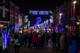 Preston's Christmas Lights at the top end of Friargate Pic: Billy Matthews