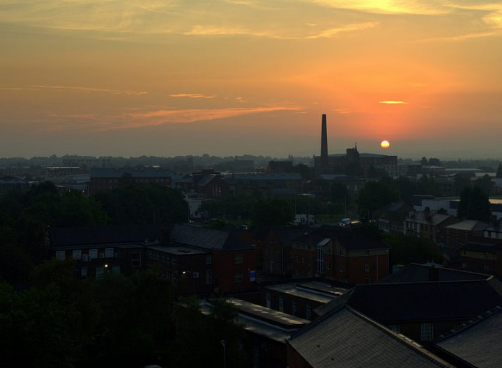 Sunrise over Preston, with the mill chimney showing the last time there was a 'Powerhouse' of the North Pic: Tony Worrall
