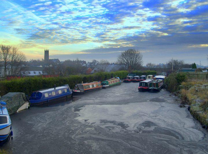 Frozen canal at Preston Pic: Tony Worrall