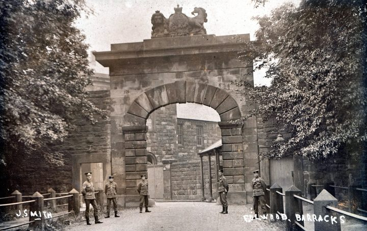 Fulwood barracks sepia postcard. Pic: Preston Digital Archive