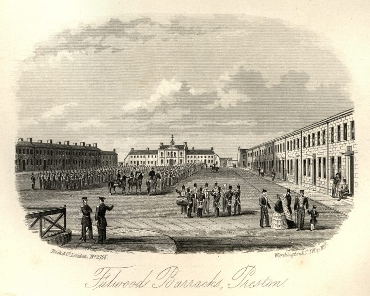 Fulwood Barracks, the square, by Charles Hardwick 1857