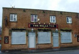 The bordered up Belle Vue in New Hall Lane Pic: Tony Worrall