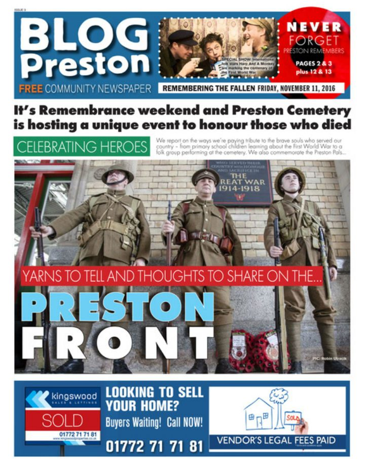 There's a unique event to remember the fallen in Preston for Remembrance weekend