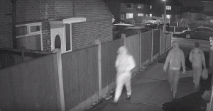 Two men seen walking after the incident at Londis