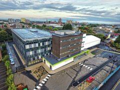 An aerial view of Eden Boys School in London Road