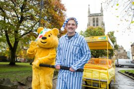 Graham and Pudsey. This was definitely taken before he set off!