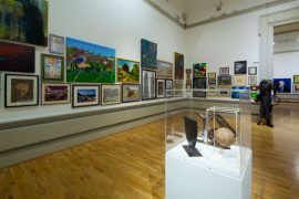 Some of the artwork on display at last year's Harris Open