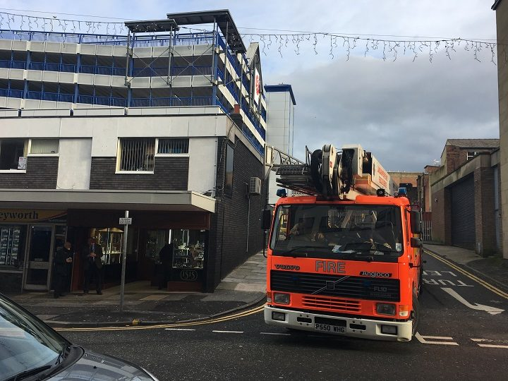 A fire engine in Lune Street Pic: Billy Matthews