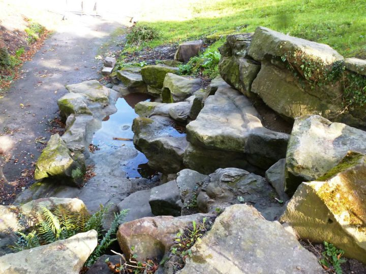 Drinking fountain restored at the grotto