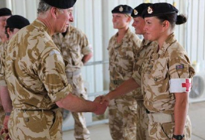 Meeting Prince Charles during his visit to Fulwood Barracks