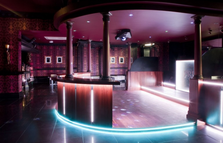 This was the bar and dancefloor at Priory