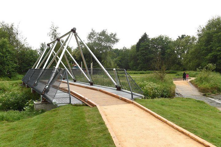 New bridges were built to connect parts of the new park