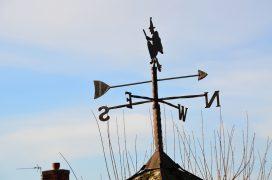 A weather vane in Preston Pic: Jack Toner