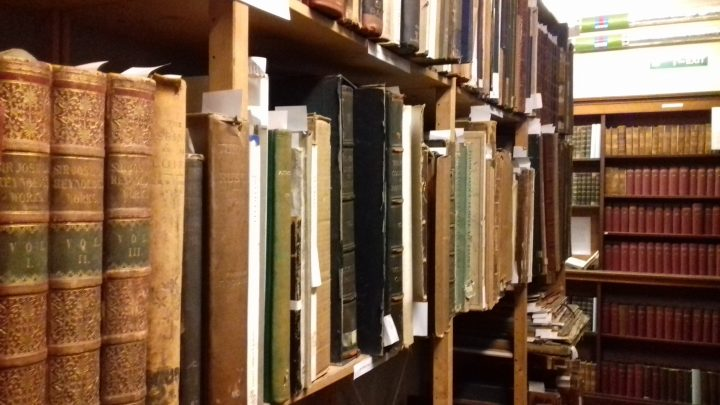 These kinds of historic books would be brought up into public areas