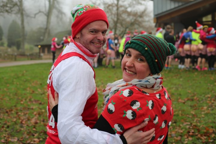 Ben and his wife Louise before the Santa Dash