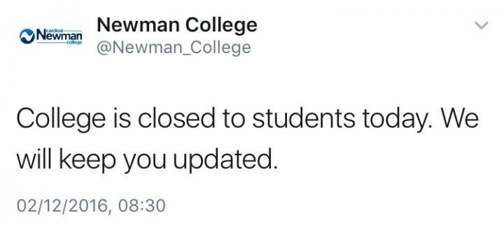 Newman College announces closure