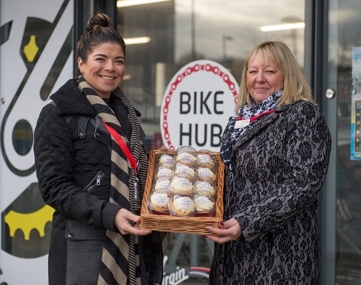 Shirley and Beth at the launch of the Bike Hub