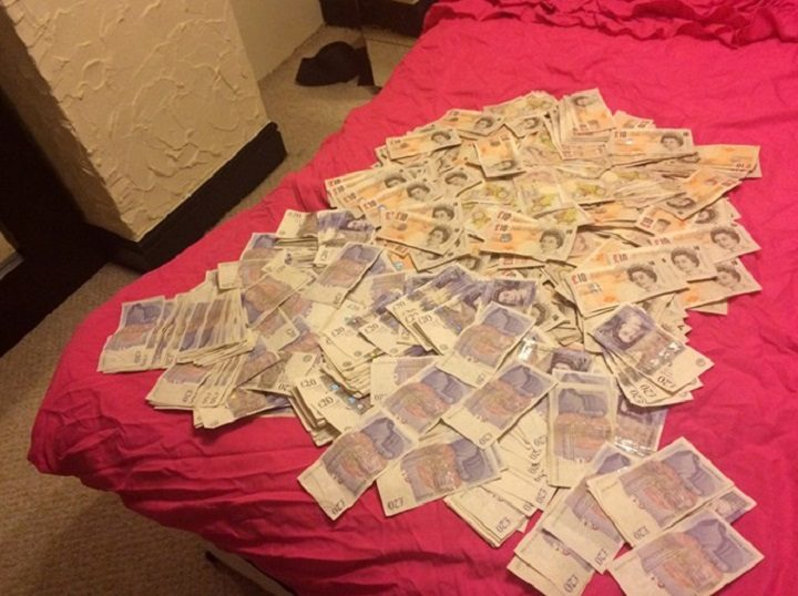 Piles of cash found in the brothel
