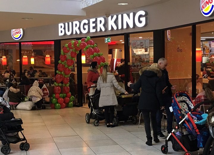 Outside the new Burger King in the Rotunda