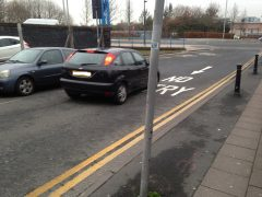 A driver goes the wrong way down Charnley Street